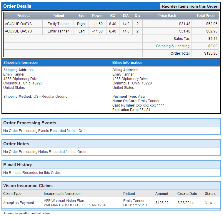 Ordering Contacts Using Your Associate VSP Walmart Vision Plan