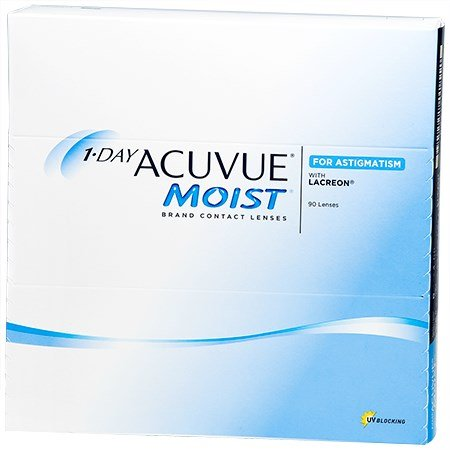 1 Day Acuvue Moist For Astigmatism 90pk Contact Lenses By Johnson Johnson Vision Care Inc Walmart Contacts