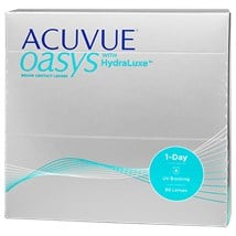 ACUVUE OASYS 1-Day with HydraLuxe 90pk contact lenses