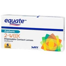 Equate 2 Week contact lenses